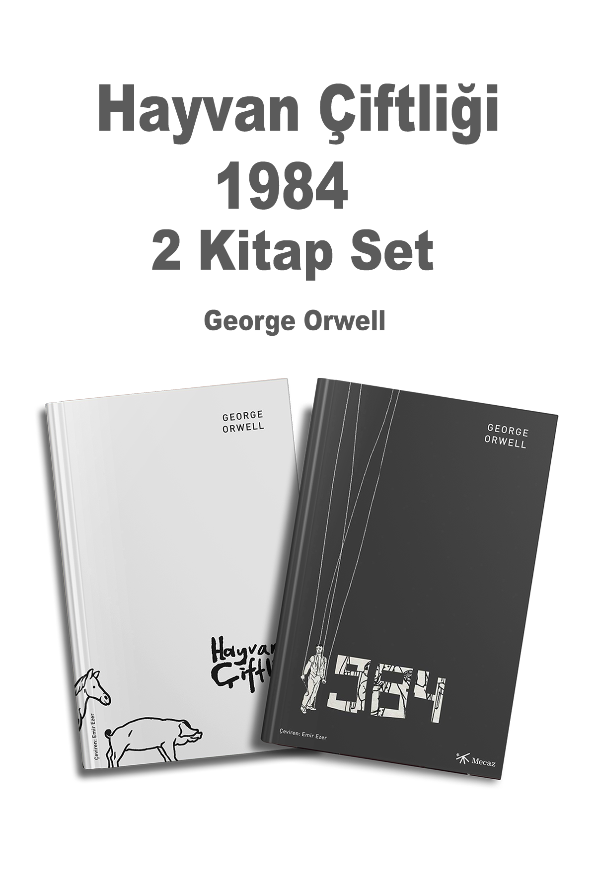 Hayvan Çiftliği  1984 iki kitap Set